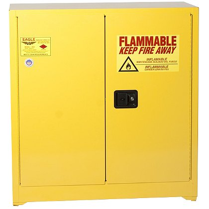 Eagle Manufacturing Flammable Liquid Storage Cabinet, Two Door, Yellow