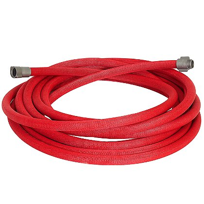 Armored Textiles Armored Reel Semi-Rigid Hose, Red