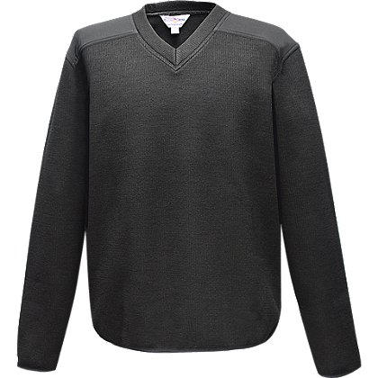 Flying Cross Fleece-Lined V-Neck Sweater, 30% Poly/33% Wool/37% Acrylic