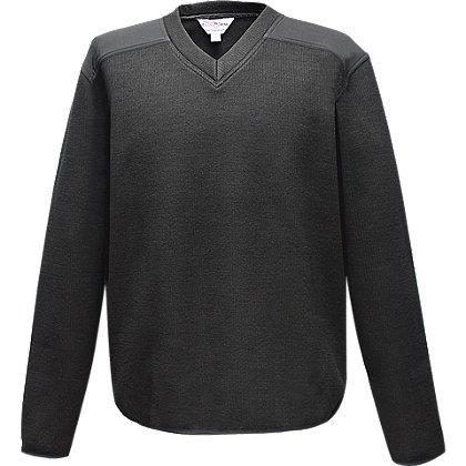 Flying Cross: Fleece-Lined V-Neck Sweater, 30% Poly/33% Wool/37% Acrylic
