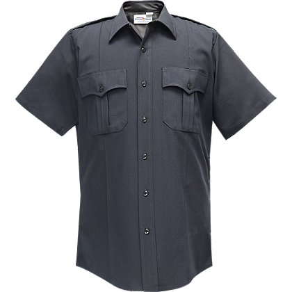 Flying Cross: Command Men's Short Sleeve Shirt, LAPD Navy