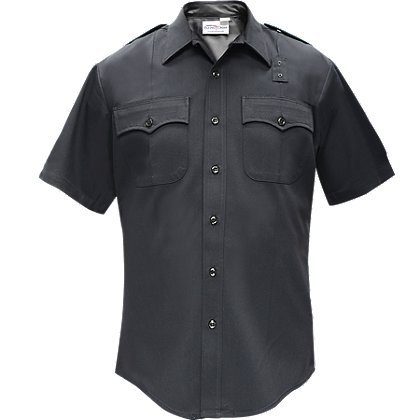 Flying Cross: Deluxe Tactical Men's Short-Sleeve Shirt, 70% Poly/28% Rayon/2% Lycra