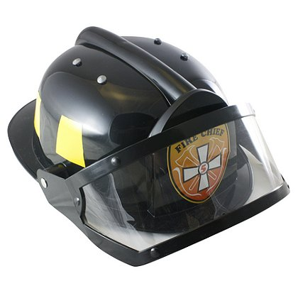 AeroMax Fire Chief Plastic Firefighter Costume Helmet