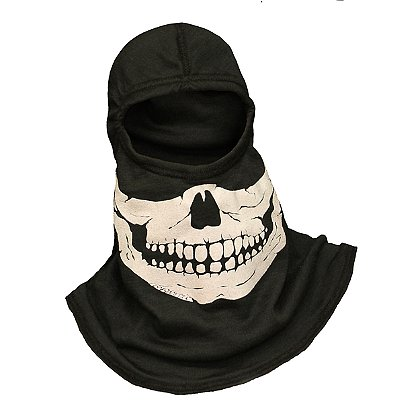 Majestic Fire Apparel Fire Ink 960 C6 Skull Hood Glow-In-The-Dark