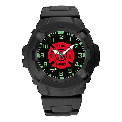 Aquaforce 24Y, Black Analog Firefighters Combat Watch
