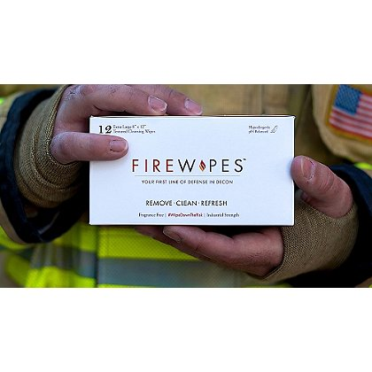 Firewipes On-Scene Firefighter Skin Decontamination Wipes