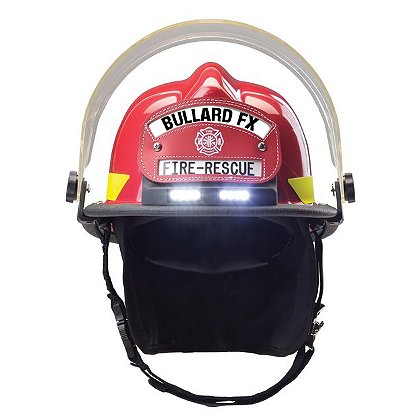 Bullard: Firedome FX Helmet with TrakLite Integrated Helmet Light, NFPA 1971