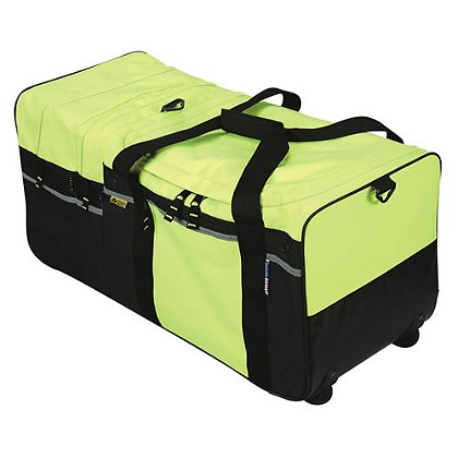 2W International High Visibility Large Wheeled Turnout Gear Bag