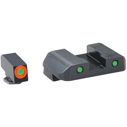 AmeriGlo Spartan Operator Sights ProGlo (Orange Circle) Front, Pro Op Rear (Green or Yellow)
