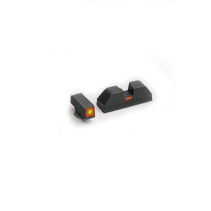 AmeriGlo: CAP (Combative Application Pistols) Night Sights, Orange/Orange ProGlo Square Front, Painted Line Rear, for Glock Pistols