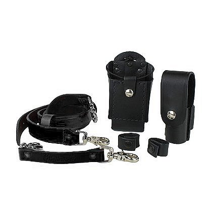Boston Leather: TheFireStore Exclusive Grand Slam Radio Strap Combo Kit
