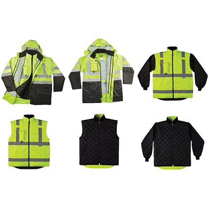 Game Sportswear: Black Bottom 6-In-1 Jacket, Neon Lime