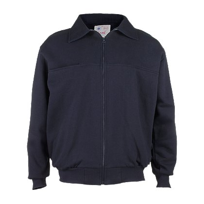 Game Sportswear 8075 Firefighter's Full-Zip Job Shirt, Navy