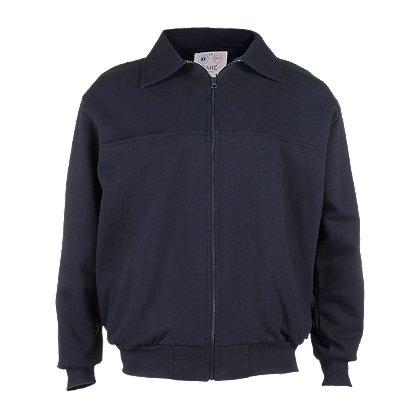 Game Sportswear: 8075 Firefighter's Full-Zip Job Shirt, Navy