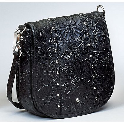 GTM: Concealed Carry Studded Tooled Flap Bag