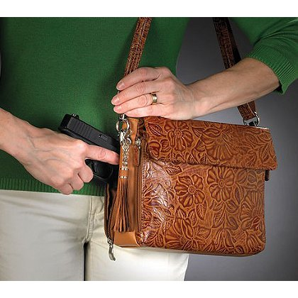 GTM Concealed Carry Tooled Handbag