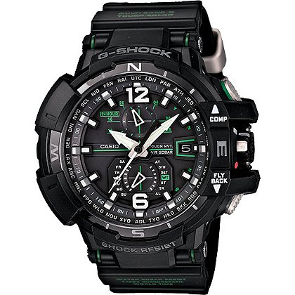 Casio GravityMaster Solar Atomic Watch, Twin-Sensor, G-Shock Aviation
