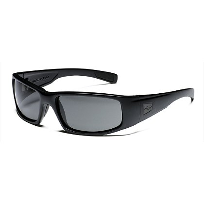 Smith Optics: HIDEOUT Tactical Sunglasses with Black Frame, Gray or Polarized Gray Lens