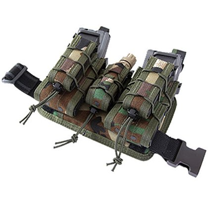 HSGI: Leg Rig V1 (2) Double Decker TACO & (1) Pistol TACO