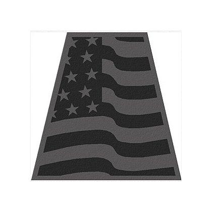 TheFireStore Wavy American Flag, Black Reflective Tet, 2
