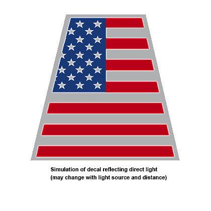 TheFireStore Reflective Helmet Tetrahedron, American Flag, 2�