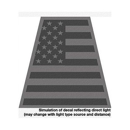 TheFireStore American Flag, Black Reflective Tet, 2