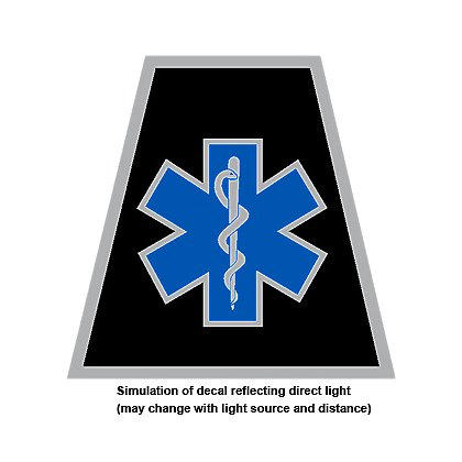 Decal theEMSstore Exclusive Reflective Helmet Tetrahedron Star of Life 2""