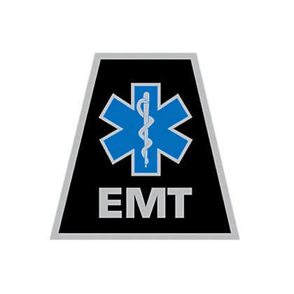 Decal: theEMSstore Exclusive Reflective Helmet Tetrahedron Star of Life EMT 2""