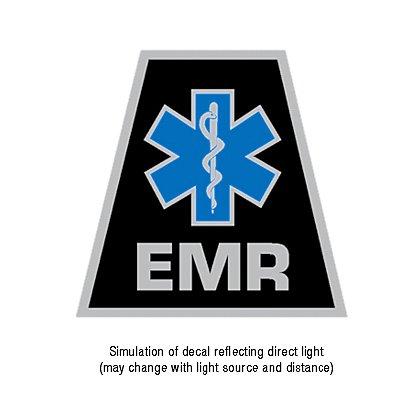 TheFireStore Exclusive Reflective Helmet Tetrahedron Star of Life EMR