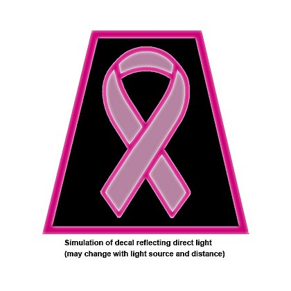 Decal theEMSstore Exclusive Reflective Tetrahedron, Pink Breast Cancer Awareness Ribbon, 2""