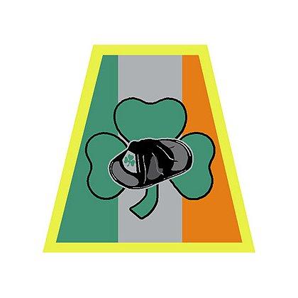 TheFireStore: Irish Helmet Tetrahedron with Shamrock and Helmet