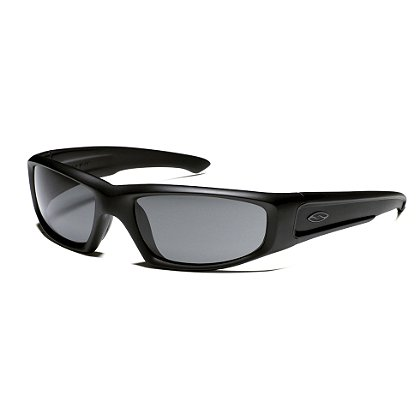 Smith Optics HUDSON Tactical Sunglasses with Black Frame, Ignitor, Gray or Polarized Gray Lens