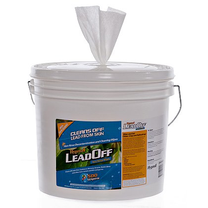 Hygenall Refillable Tubs with One Roll of 500 LeadOff Wipes Each