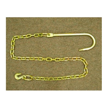 Junkyard Dog: J-Hook and 5' Chain, 3/8