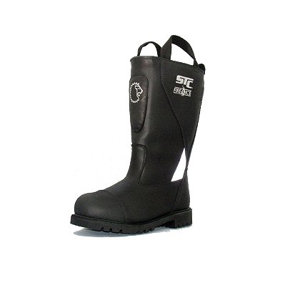Lion: Mens Tri-Certified Battalion Leather Fire Boot, NFPA