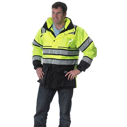 Lakeland ANSI Plus2 Parka & Hi-Vis Fleece Liner/Jacket, ANSI 107-2010 Class 3