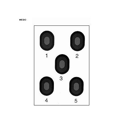 LET, Inc: 5 Bullseye Target, Orange or Grey Center, 50ct