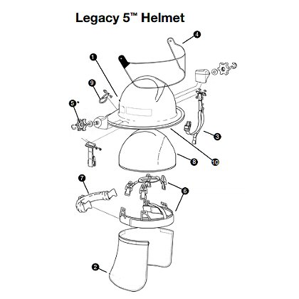 Lion: Plastic Thumbwheel Faceshield Fasteners for Legacy 5™ Helmets