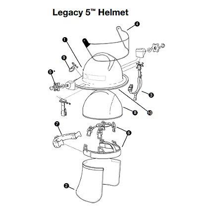 Lion Faceshield Bracket Kit - Plastic Thumbwheel for Legacy 5