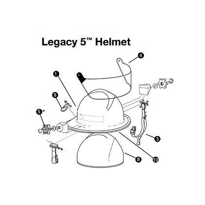 Lion WaterGuard Faceshield Bracket Kit for Legacy 5 Helmets