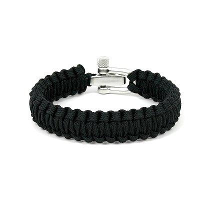 Survival Straps Paracord Survival Bracelet, Ladies/Kids, Black