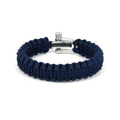 Survival Straps Paracord Survival Bracelet, Ladies/Kids Navy