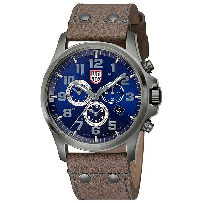 Luminox: Atacama Field Chronograph 1940 Series, 45 mm Gun PVD Steel Case