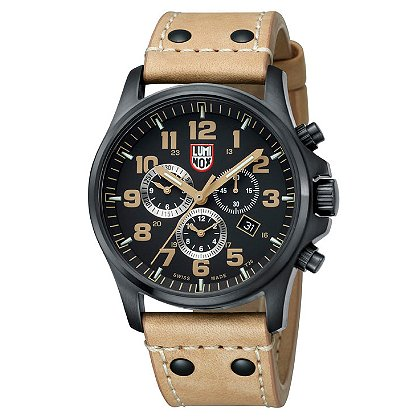 Luminox: Atacama Field Chronograph 1940 Series, 45 mm Black PVD Steel Case