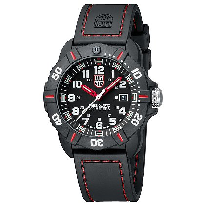 Luminox: Coronado 3035, Black Dial w/ Red Markings