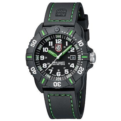 Luminox: Coronado 3037, Black Dial w/ Green Markings