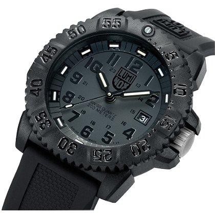 Luminox: Navy Seal Steel Colormark 3150 Series, Black Dial/Black Markings
