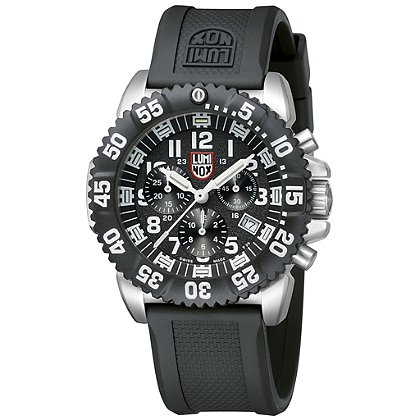 Luminox: Navy Seal Steel Colormark Chronograph 3180 Series, 44mm, Black Dial