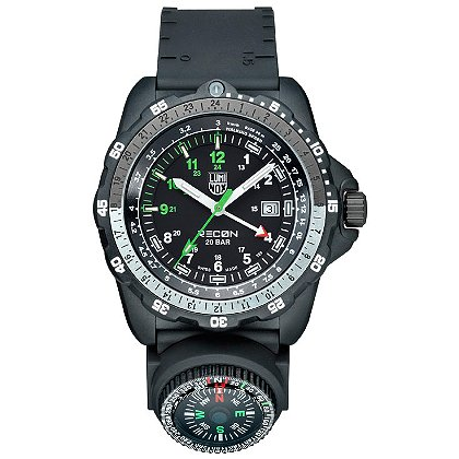 Luminox: Recon Navigation Specialist, Black PU Strap w/ Compass