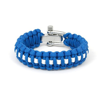 Survival Straps: Paracord Survival Bracelet, EMS White Line